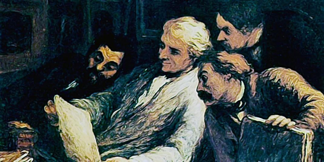 Four amateur of prints. Honore Daumier