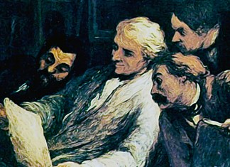 Four amateur of prints. Honore Daumier