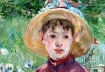 """Le corsage rouge. Mlle Isabelle Lambert"" di Berthe Morisot"