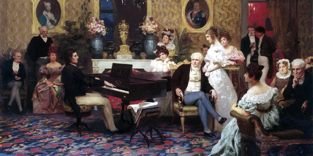 Henryk Siemiradzki. Chopin Playing the Piano in Prince Radziwill's Salon