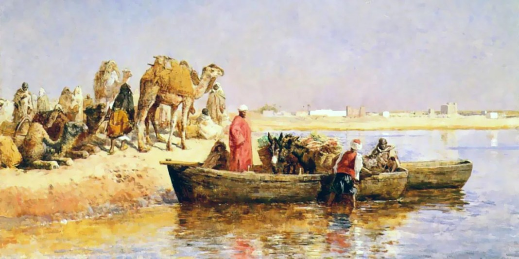 Along The Nile by Edwin Lord Weeks (late 19th century)