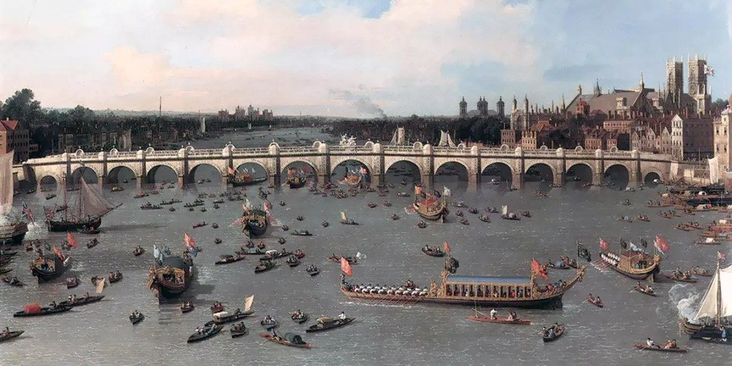 Westminster Bridge from the north on Lord Mayor's Day, Canaletto (1746)