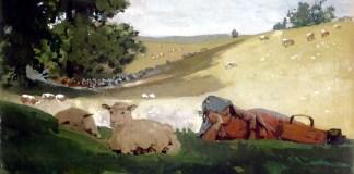Warm Afternoon (Shepherdess), Winslow Homer (1878)