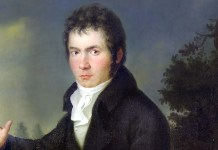 Ritratto di Ludwig van Beethoven. Joseph Willibrord Mähler