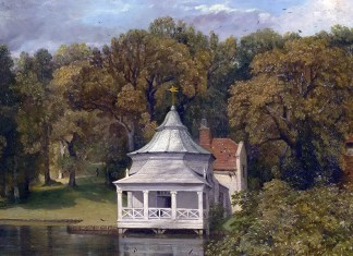 John Constable, The Quarters behind Alresford Hall