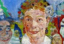Old Lady with Masks. James Ensor