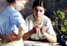 "Le stiratrici (Silittäjättäret, 1883)"" di Helena Westermarck"