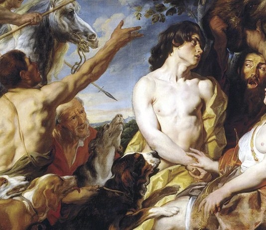 Meleager and Atalanta. Jacob Jordaens