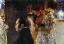 Schubert at the Piano. Gustav Klimt