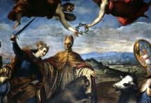 Allegoria della vittoria sulla Lega di Cambrai, Jacopo Palma il Giovane, Sala del Senato, Palazzo Ducale, Venezia
