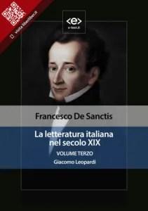"""""""La letteratura italiana nel secolo XIX"""" di Francesco De Sanctis"""