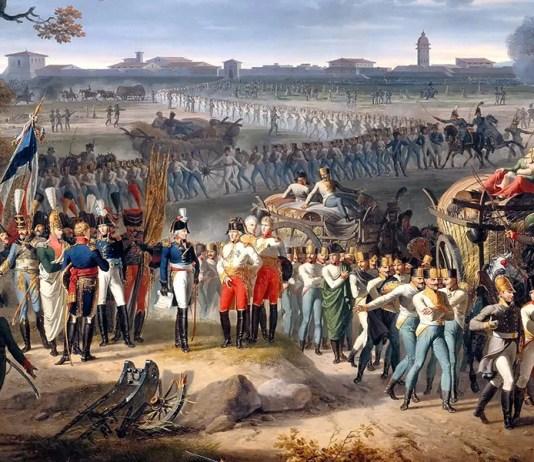 """""""Reddition de Mantoue, le 2 février 1797: le général Wurmser se rend au général Sérurier (1812)"""" di Hippolyte Lecomte"""