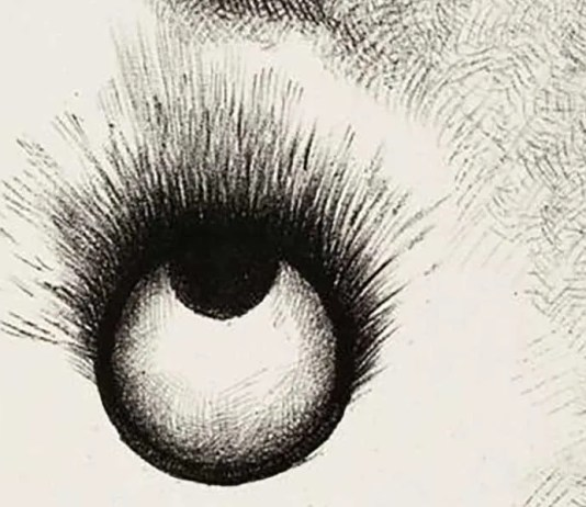 Everywhere eyeballs are aflame, di Odilon Redon
