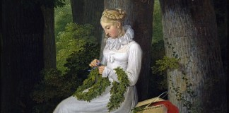 """Die Kranzwinderin (1815)"" di Georg Friedrich Kersting"