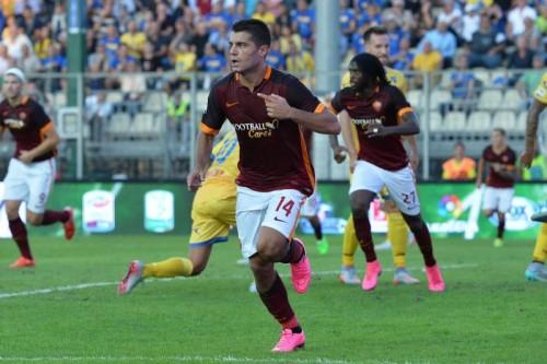 frosinone-roma-iago falque gol