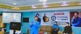 अर्पण शर्माद्वारा गिनिज बुकमा नयाँ कीर्तिमानको दाबी पेस