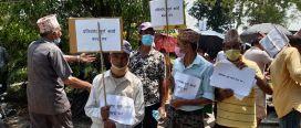 भूमि समस्या समाधान आयोग खारेजीको विरुद्धमा प्रर्दशन