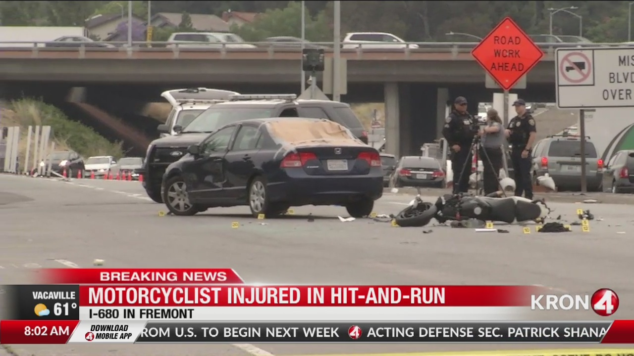 Motorcyclist injured in hit-and-run