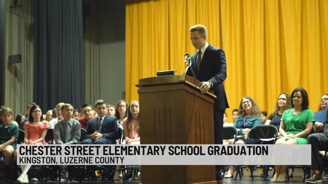 Stefano at School: Chester Street Elementary Graduation