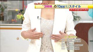 宇賀なつみアナ巨乳おっぱいの谷間胸チラリ放送事故エロお宝画像5