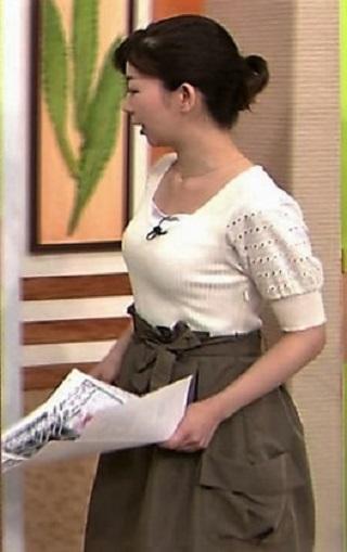 松尾由美子アナおっぱいの谷間胸チラリエロお宝画像