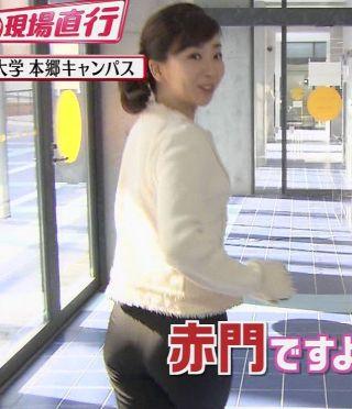 松尾由美子アナお尻パン線エロお宝画像