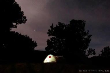 Una tenda sotto il cielo