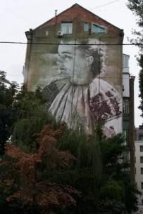 Murales dietro Zoloty Vorota