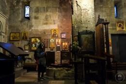 L'interno della basilica di Anchiskhati, Tbilisi