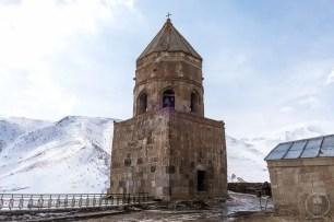 Il campanile della chiesa di Gergeti