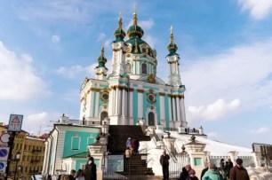 La chiesa di Sant'Andrea a Kiev
