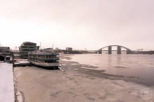Il fiume Dniepr guardando verso Nord