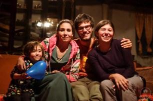 Con Marzuna e una dei suoi tre figli