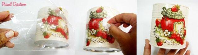 Passo a passo: Como decorar latinhas e fazer porta mantimentos