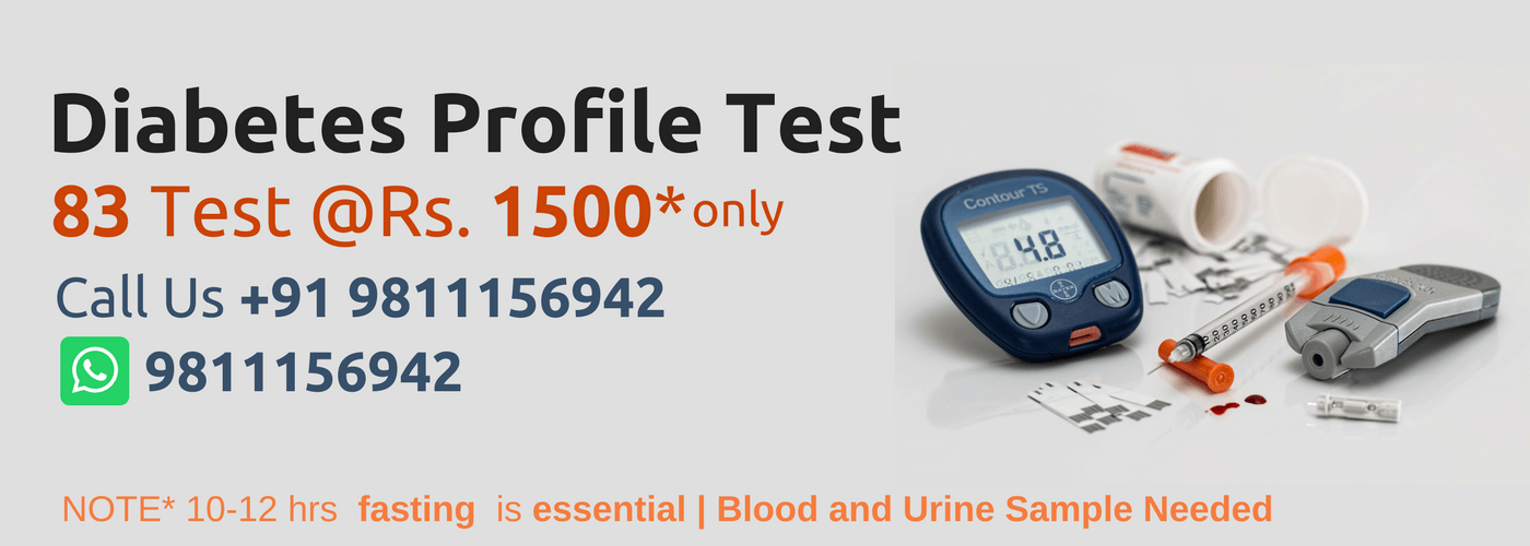 diabetic profile test price in Delhi NCR | blood test at home