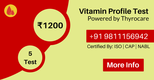 Vitamin Profile, blood test home service lowest Price in delhi