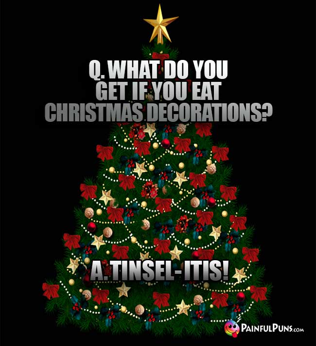 Q What Do You Get If Eat Christmas Decorations