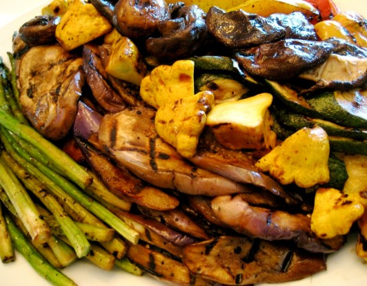 Platter of Grilled Veggies