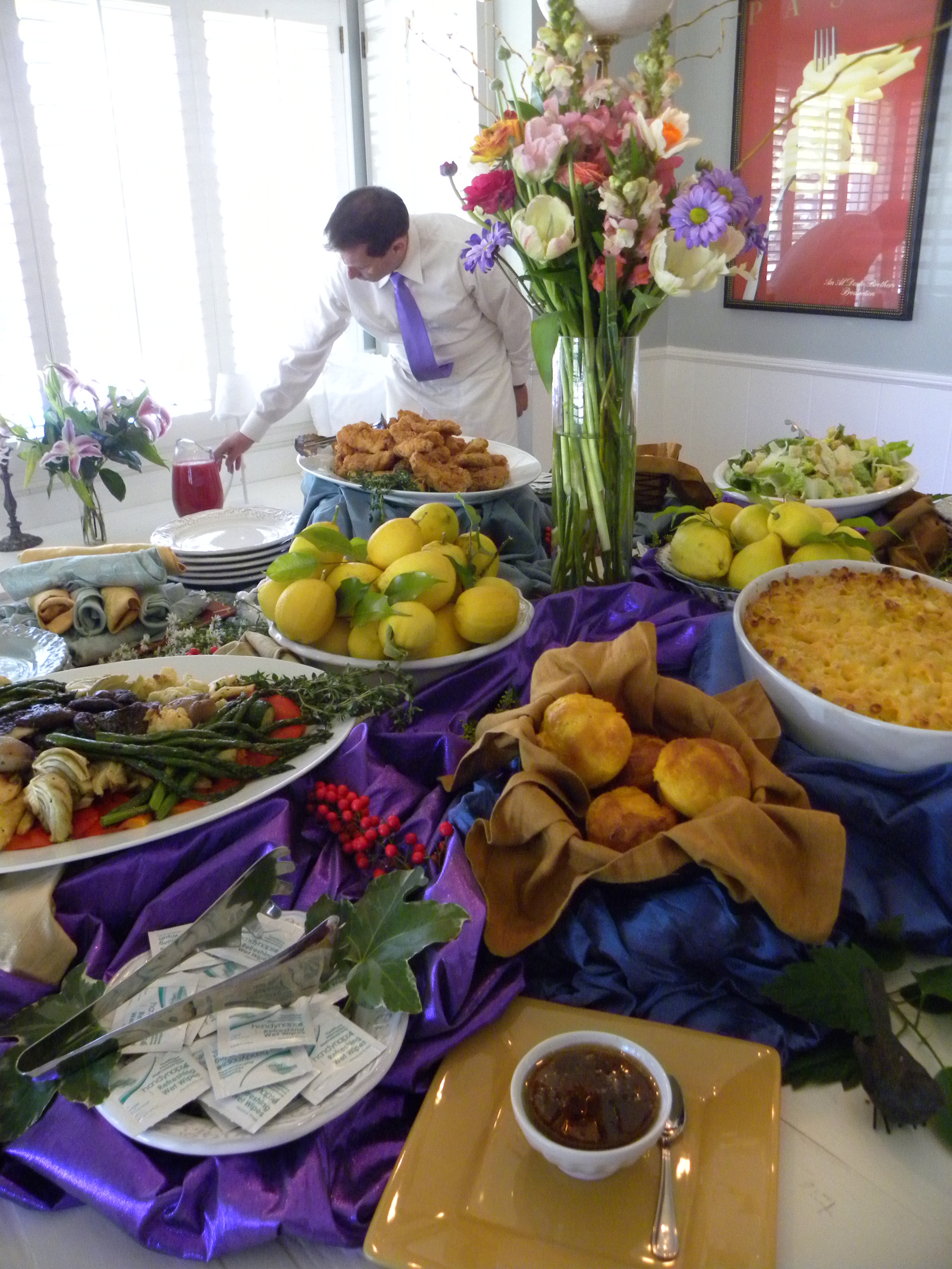 A Bridal Shower Menu of fort Food with a Citrus Rose Hibiscus