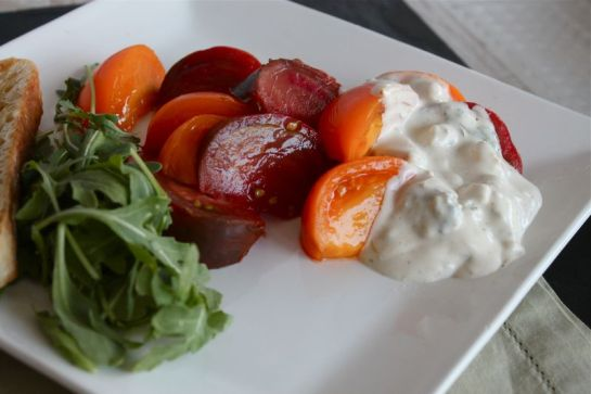 Heirloom Tomato Wedges with Blue Cheese Dressing