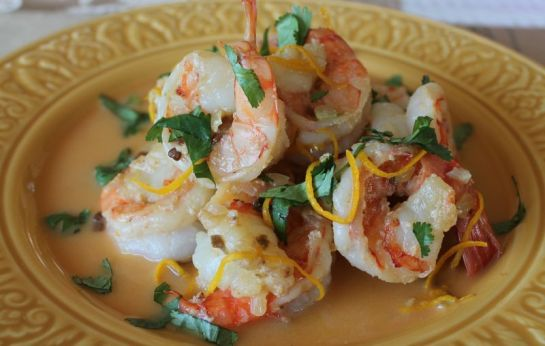 Shrimp with Tequila