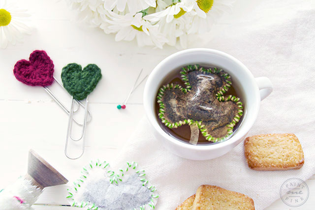 St. Patricks Day Three Leaf Clover Tea Bag DIY