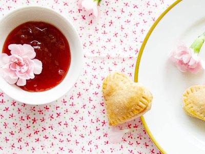 Mini Heart Strawberry Jam Pies