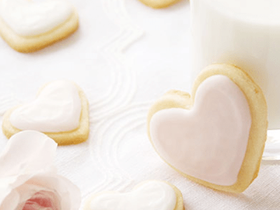 Valentine's Day Vanilla Heart Cookies