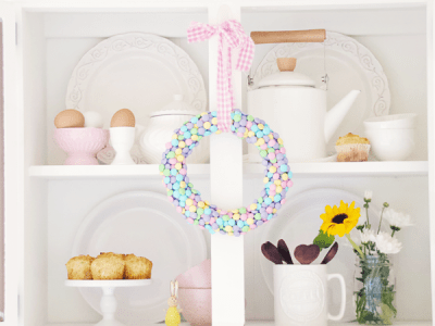 Spring Wreath and M&M's