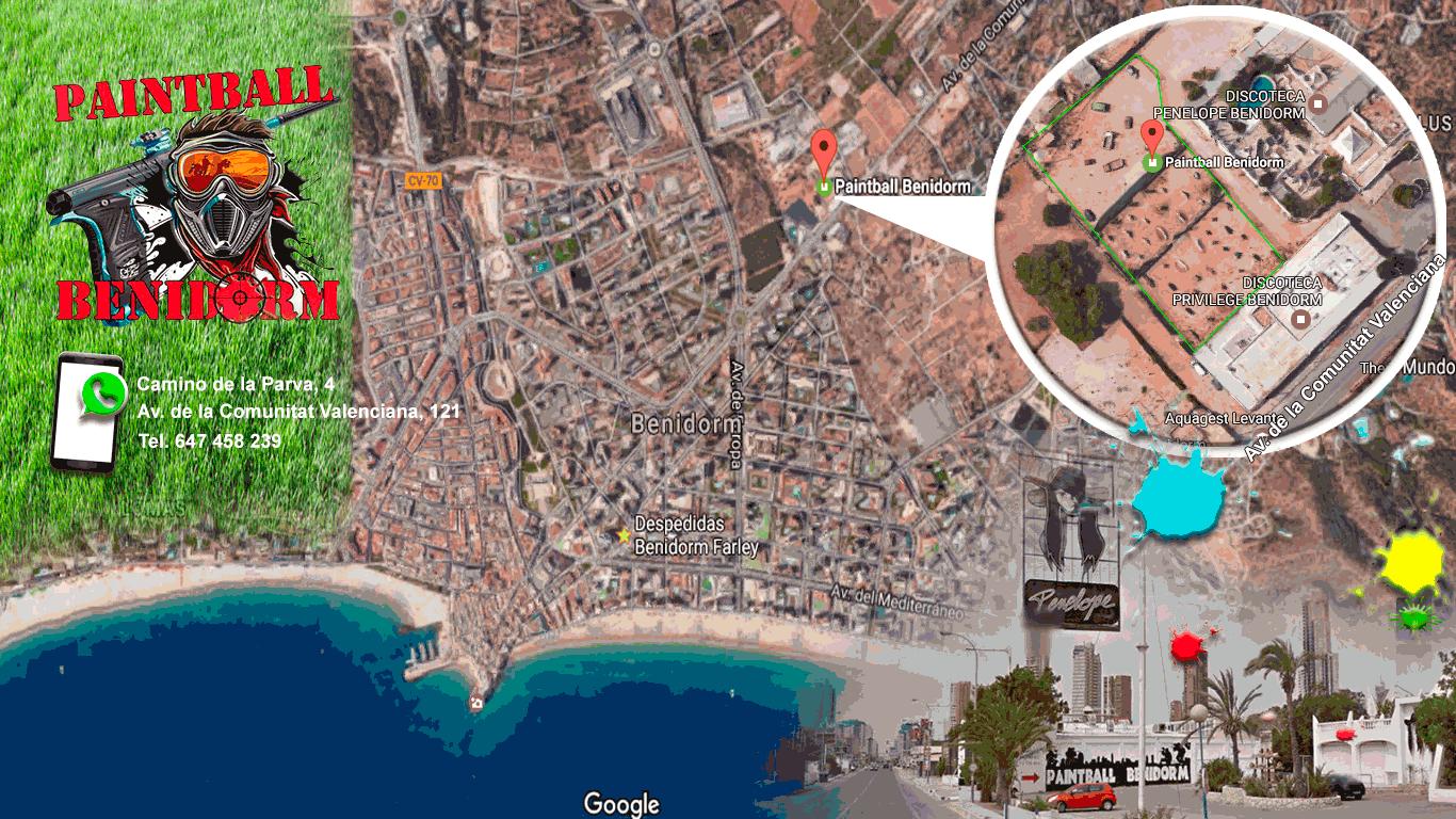 Paintball Benidorm mapa de localizacion