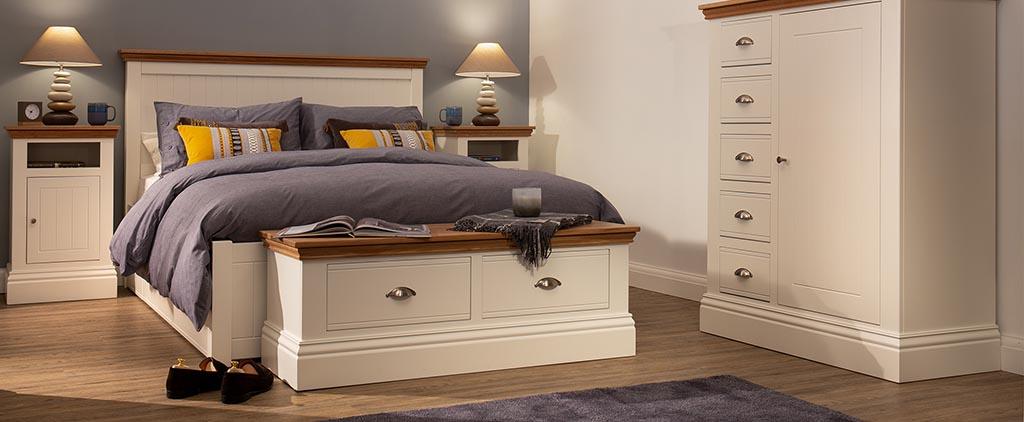 painted bedroom furniture grey cream