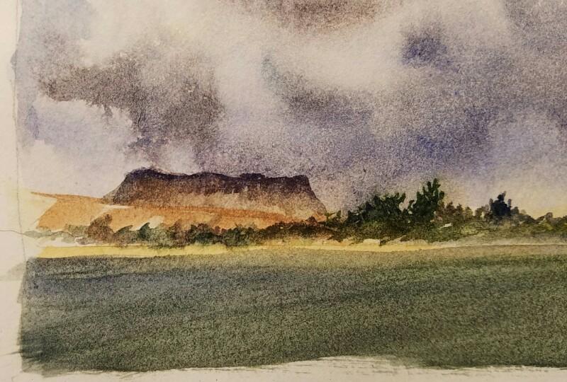 Stormy sky detail