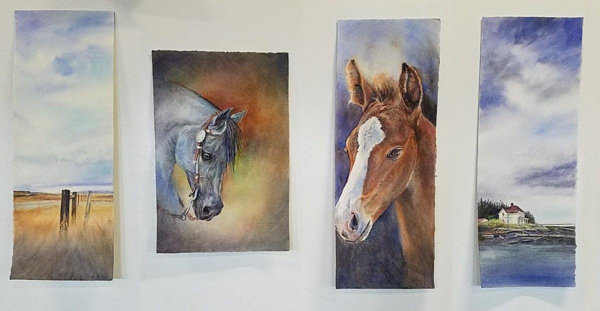 One weekend, 3 1/2 paintings…