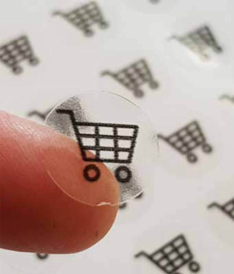 tiny Transparent Stickers Shopping Cart